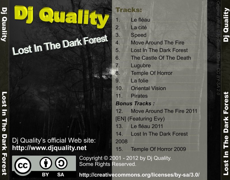Dj Quality - Lost In The Dark Forest - Back Cover