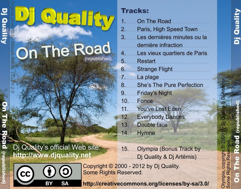 Dj Quality - On The Road (republished) - Back Cover